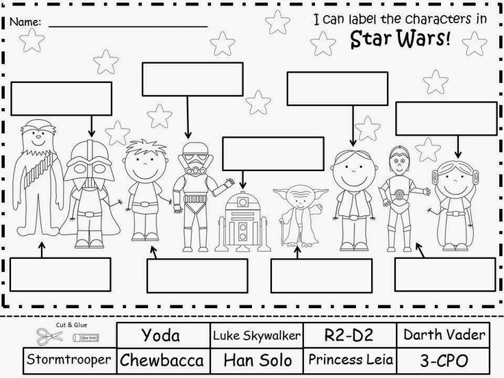 Free: Star Wars Labeling Sheets. Freebie For A Teacher