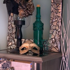 Kitchen Art Decor Cabinets Refacing Cost Diy Frame: Made From Broken Mirror Pieces And Black Grout ...