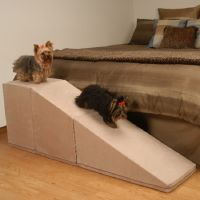 homemade dog ramp for bed | puppies | Pinterest | Dog ramp ...