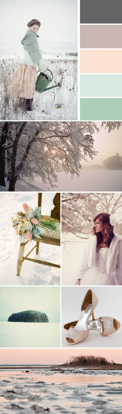pretty pastels that still feel wintery. you could substitute the mints for other pastel shades if you wanted to (pinks, for