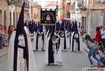 Banda de Cabecera de la Expiración por calle Marqués, momentazo de esta Semana Santa de Linares 2015