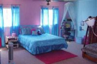 girls bedroom ideas blue and pink with white tulle ...