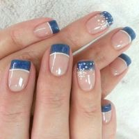 French Manicure Designs Blue | www.imgkid.com - The Image ...