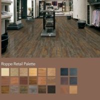 Leather and wood VCT tiles for flooring. Eco friendly like
