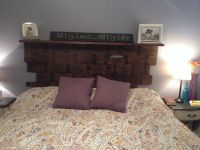 Wall mounted headboard of reclaimed wood | Master Bedroom ...