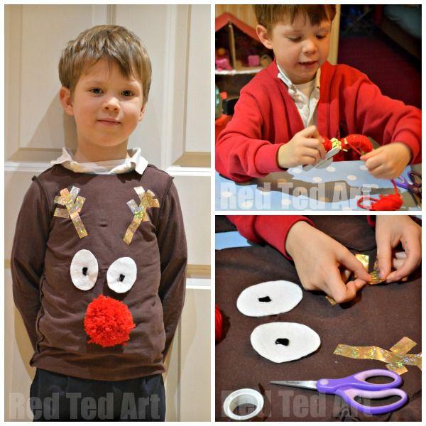 Easy DIY Christmas Jumper For Kids Crafts Little Ones