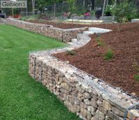 small gabion retaining wall filled with sandstone http ...