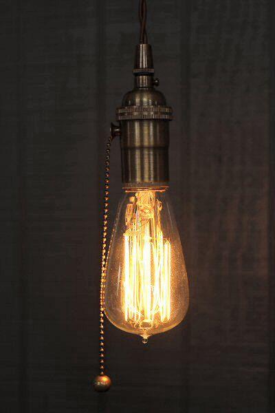 25+ best ideas about Pull chain light fixture on Pinterest
