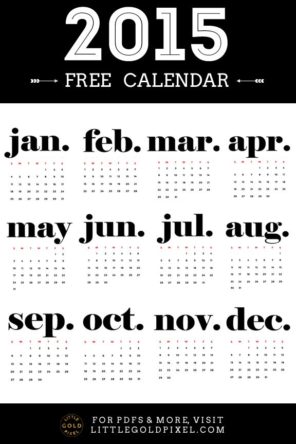 25+ best ideas about 2015 Calendar Printable on Pinterest