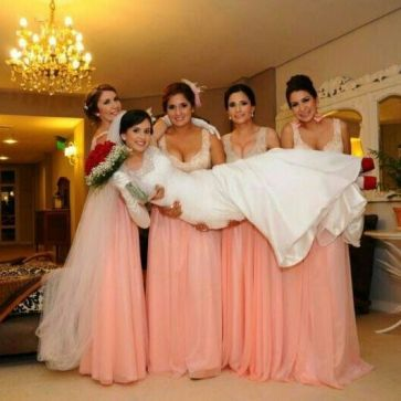 Novias y damas de honor!!!! Bellooo ♥♥♥
