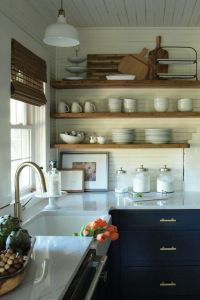 25+ great ideas about Navy kitchen cabinets on Pinterest
