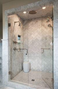 herringbone shower tile | For the Home | Pinterest ...