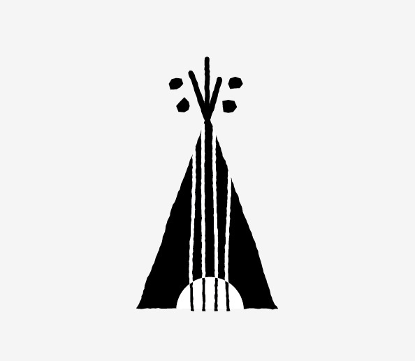 DAY 312 Folk Festival mark guitar + teepee = folk festival