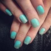 simple and cute gel polish nails