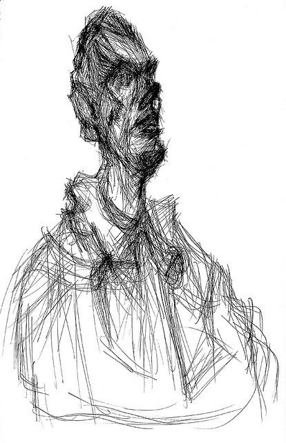 Giacometti Buste de Diego dessin 34 Dessin