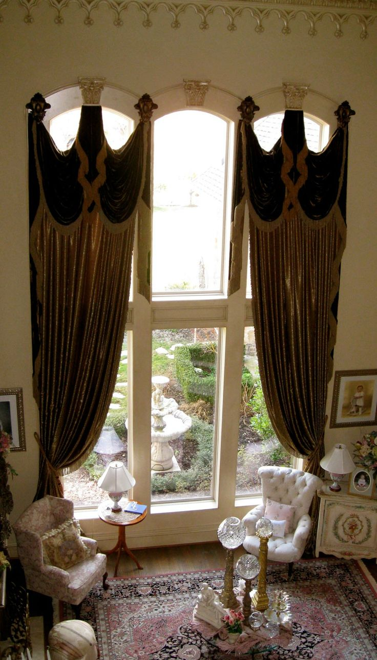 Grandeur Designs Love the window treatments  Old