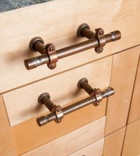 Industrial Copper Cabinet Handles