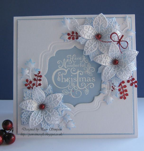357 Best Cards Christmas Poinsettia Images On Pinterest