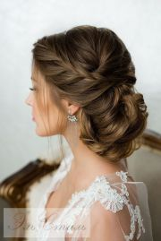 elegant wedding braided updo hairstyles