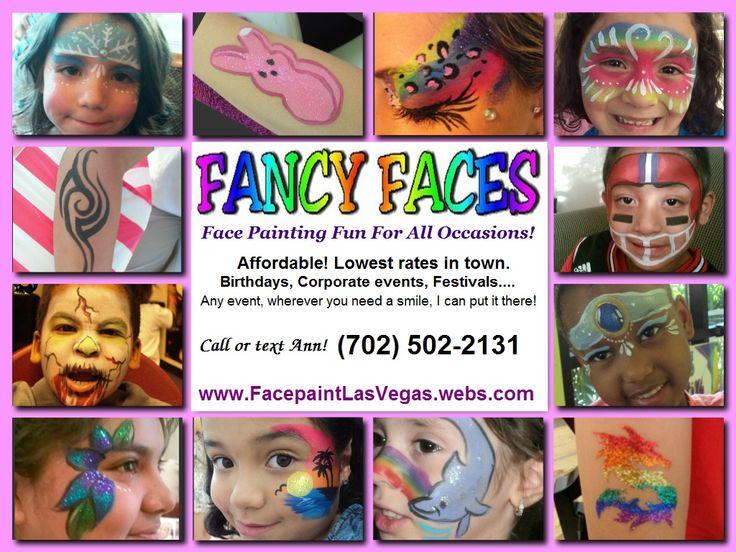 Face Paint Business Card Idea Face PaintingBalloon