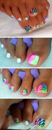 25+ best ideas about Toenail art designs on Pinterest