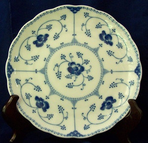 German Christineholm Echt Cobalt China Salad Dessert Display Plate Blue White For Less Plates