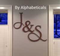 His and Hers Wooden Letters Wall Decor Wooden Signs Wall ...