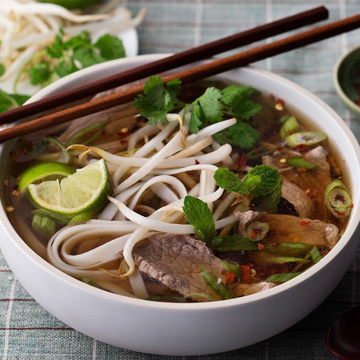 Vietnamese Rice Noodle Soup With Beef Recipe  Dishmaps