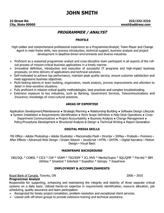 Objective For Java Developer Resume