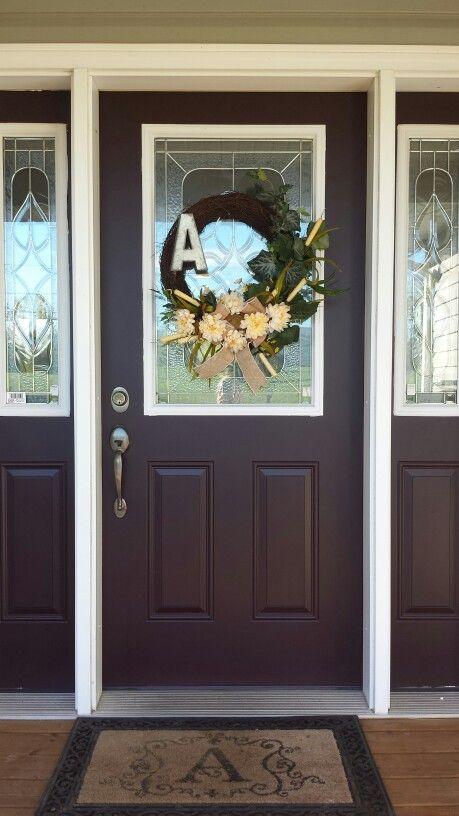Front door color Sherwin Williams  Raisin  Paint