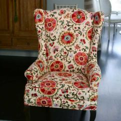 Floral Upholstered Chair Folding Covers Walmart Canada Upholstery Fabric | For Vintage Wingback : ...