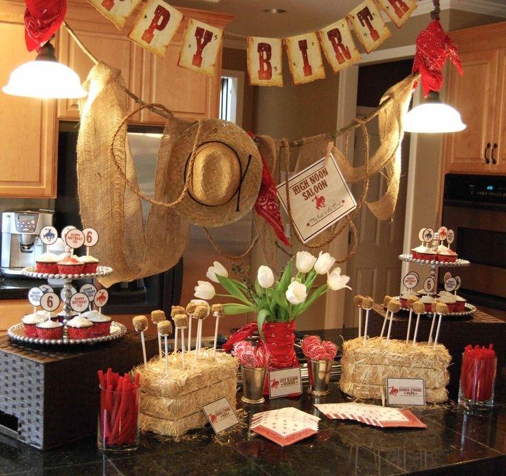 Cowboy Birthday Theme  Love her CowboyCowgirl birthday party theme   Unisex Birthday