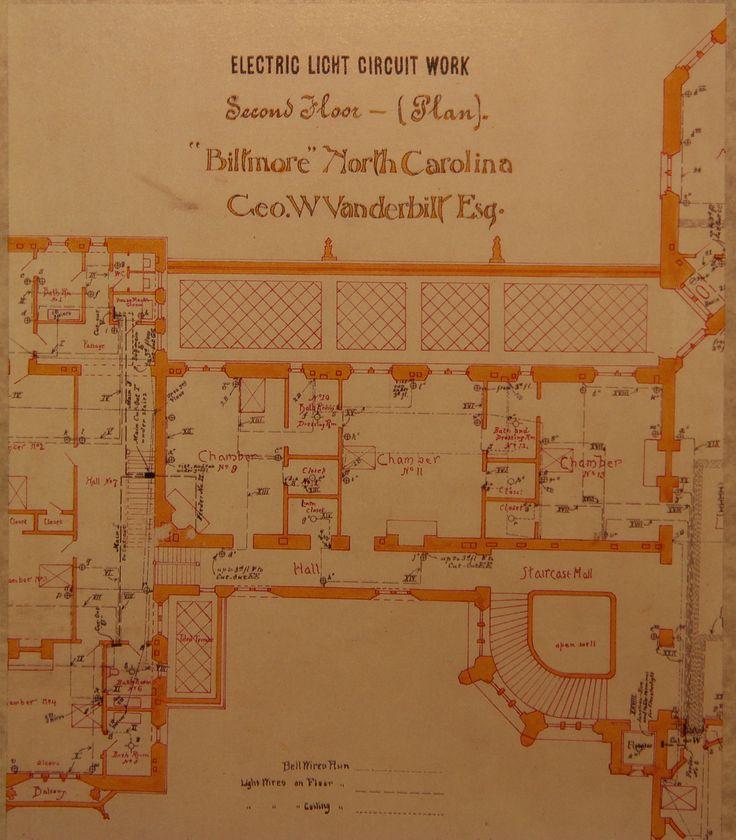 Biltmore House 2nd Floor blueprint floorplan  Arch