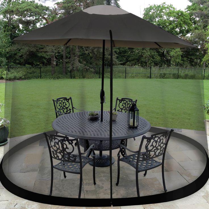 Umbrella Table Enclosure Screen
