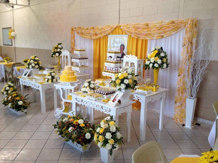 decorao de festa branco e dourado  Pesquisa Google  festa  Pinterest  Pesquisa