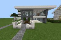 Easy modern MineCraft house idea | Cool stuff | Pinterest ...
