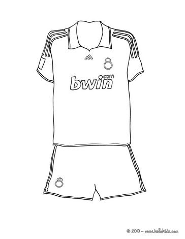 Soccer shirt coloring page: Cups Soccer, Coloring Pages