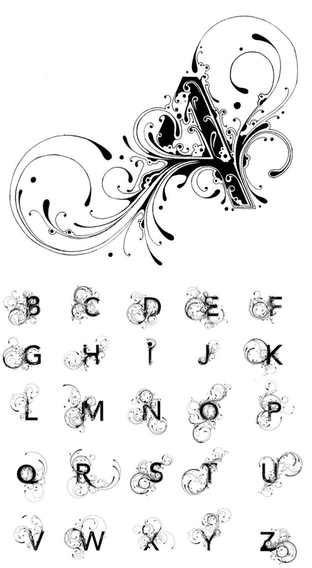25+ best ideas about Monogram Alphabet on Pinterest