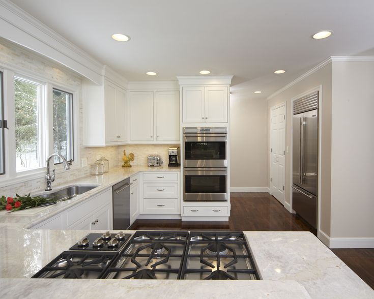 Taj Mahal Quartzite wtih White cabinets light open kitchen  Quartzite  Pinterest  Double