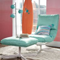 Suede Maverick Swivel Lounge Chair & Ottoman on Pinterest