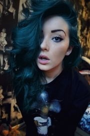 ideas dark blue hair