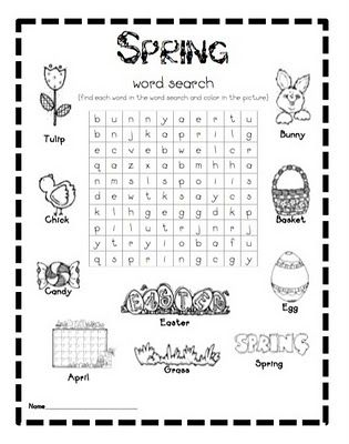 FREE spring word search--my kids LOVE word searches