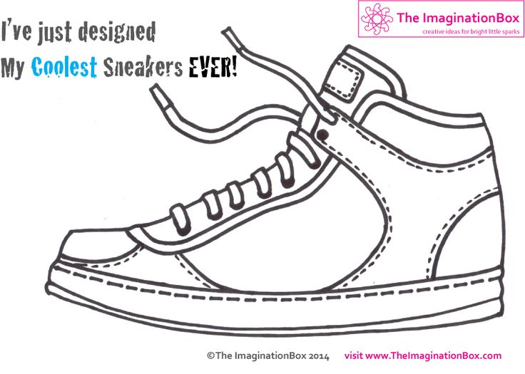 design your coolest ever sneakers with this free PDF