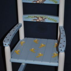 Animal Rocking Chair Office Chairs Denver Kids Boys Monkey With Bananas - Baby Shower Gift, Nursery Furniture, Painted Child ...