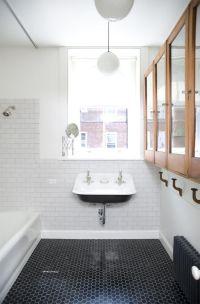 Hexagon black floor tiles | Bathroom Bliss | Pinterest ...