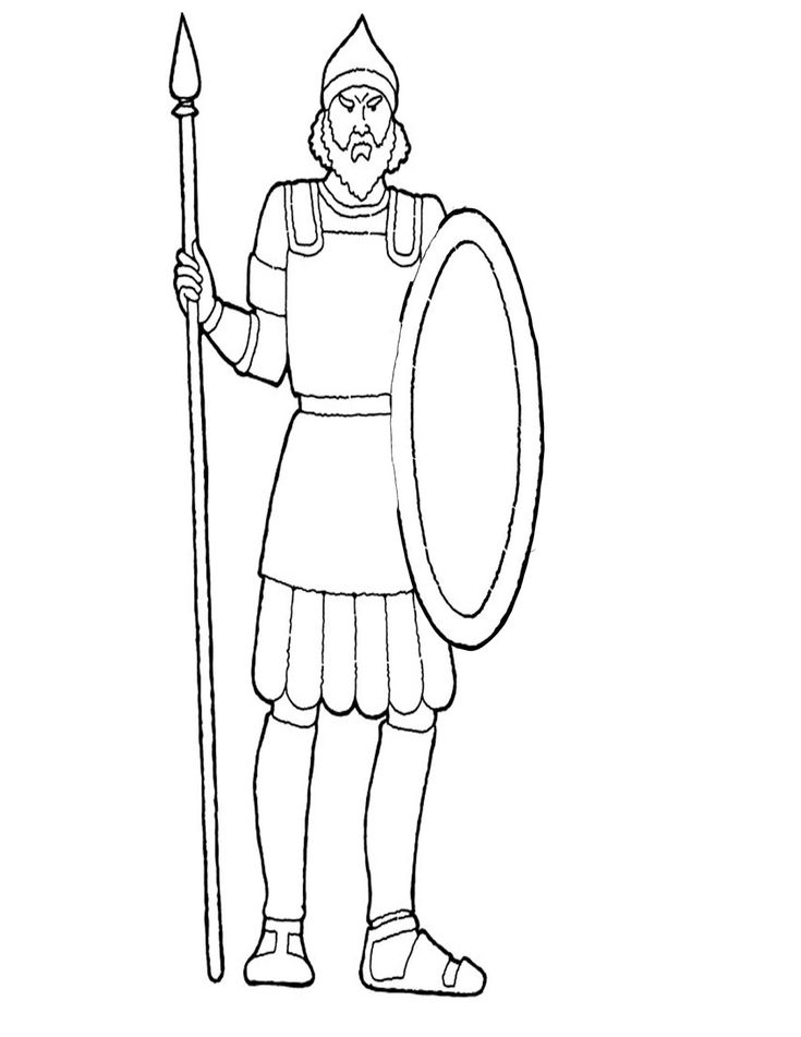Goliath craft coloring page David and Goliath craft