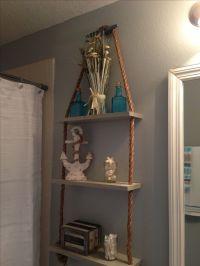 Nautical Bathroom Shelves : Simple Purple Nautical ...