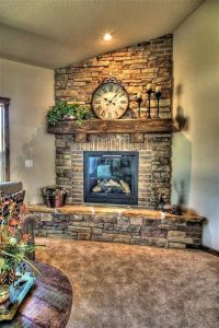 25+ best ideas about Corner stone fireplace on Pinterest ...