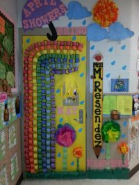 April showers bring May flowers classroom door decoration ...