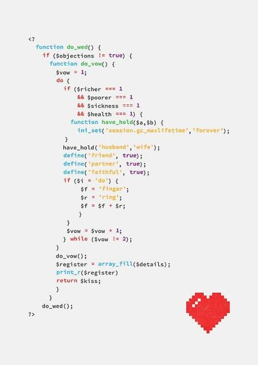 geek wedding algorithm